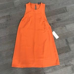 70's Inspired American Apparel Rust Mini Dress